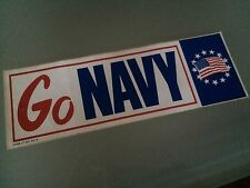 NAVY Flag Unused Bumper Sticker USA Red White Blue Patriotic July 4th America