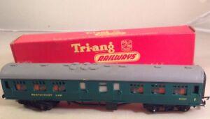 TRIANG HORNBY OO DUBLO R229 GREEN TRAIN RAILWAYS RESTAURANT COACH Boxed