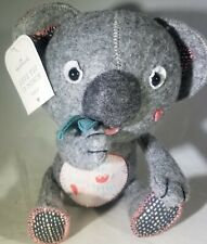 "Hallmark LOVE YOU SO MUNCH Felt Koala Bear 7.5"" - Valentine's Day"