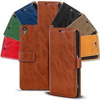 Handy Tasche Sony Xperia Z5 Flip Cover Case Schutz Hülle Wallet Premium Etui