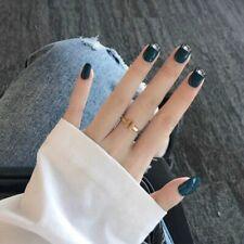 3d Artificial Fingernails Glue Press On Nail Art Tips Shiny Manicure Nails 24pcs