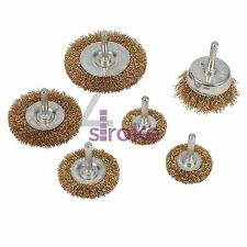 6Pc Wire Wheel & Cup Brush Set 6mm Shank Paint Rust Removal