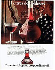 Publicité Advertising 127  1980  Rivesaltes  vin grand cru Lettres de Noblesse