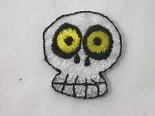 Comic Halloween Skull Glitter Iron On Patch