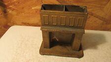 """Antique Tin Match Holder  """"Fireplace"""""""