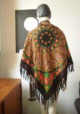 Schultertuch russ Rosen TRUE VINTAGE 108 x 108 Folklore Tuch Schal paisley scarf