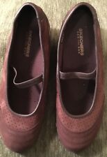 SKECHERS Brown Leather Slip On, MARY JANES, CASUAL SHOES Women's Size  9.5