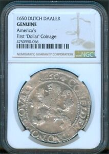 "1650 Dutch Daaler, NGC - Genuine ""Lion Dollar"""