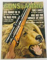 Vintage GUNS & AMMO Magazine September 1963 Riffle Roundup for '63