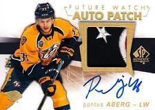 2016-17 SP Authentic Limited Patch Autographs #128 Pontus Aberg FW 23/100 Pred