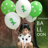 10X 12 inch kids green dinosaur balloons confetti ballons birthday party HC