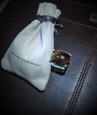 $1,950 DAVID YURMAN WHEATON 20X15mm CITRINE DIAMOND STERLING SILVER RING
