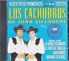 Los Cachorros de Juan Villareal Nuestros Primeros 20 Exitos CD New Nuevo sealed