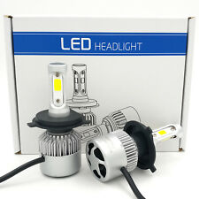 Pair H4 9003 HB2 1300W 195000LM CREE LED Headlight Bulbs Kit Hi/Lo 6000K White