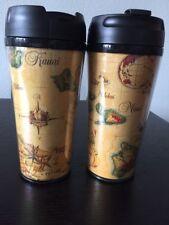Travel Coffee Mugs 16 oz. Set of 2 Hot Cold Coffee Tea Smoothie