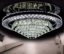 LED Deckenleuchte Lüster Deckenlampe Kristallglas Wohnzimmer Kronleuchter Hell