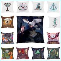 Harry Potter Polyester Taie Oreiller Housse De Coussin Maison Sofa Décor 45*45cm