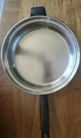 "Vtg Flavorite Tri-Ply 18-8 Stainless Steel 8"" Skillet/Fry Pan W/ Lid USA - EUC!"