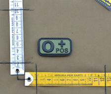 "PVC / Rubber Patch ""Small Blood Type 0 POS + OD"" with VELCRO® brand hook"