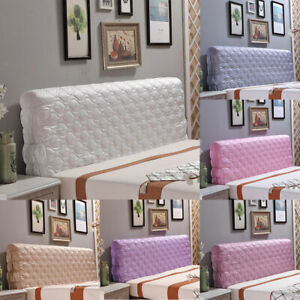 Luxury Silk Bed Headboard Slip Cover Protection Bed Decoration King Size