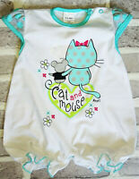 BNWT Baby Girls All In One Summer Romper Outfit Bodysuit 0-3 Months