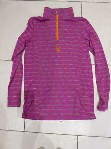 Spyder Girl's Champ Soft Compression Baselayer Long Sleeve Top - Diva Pink XL