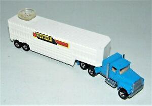 Hot Wheels Blackwall Steering Rigs Western Livestock Co. Blue Ford LTL Cab MINT