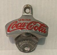 Vintage DRINK COCA-COLA #14 Wall Mount Cast Iron BOTTLE OPENER  Starr X Brown Co