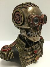 Steampunk Skull Band Uniform Bust Trinket Box Statue Sculpture Figure NEW in BOX