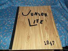 ksm. 1947 Chippewa Falls Junior High School Junior Life Black Binding Name Insid