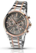 Sekonda Mens Grey Rose Gold Chronograph Dial Stainless Steel Bracelet Watch 1181