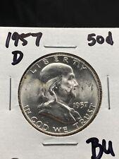 1957-D 50c Franklin Silver Half Dollar BU (3328)