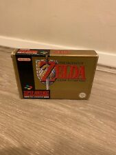 SUPER NINTENDO GAME THE LEGEND OF ZELDA A LINK TO THE PAST COMLLETE BOXED