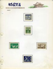 SOUTH KOREA SCOTT# 93-4 98-105 109-13 94a MINT HINGED ON PAGES
