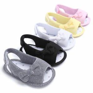 Infant Girls Crib Footwear First Walker Shoes Slip-on Cotton Gingham Pattern New