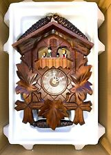 New In Box Vintage German Black Forest Cuckoo Clock-Moving Figures/Dancers WOW!