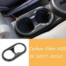 Carbon Fiber ABS Front Water Cup Holder Panel Trim For Jeep Wrangler JK2007-2010