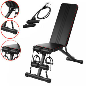 Adjustable Weight Bench Incline Decline Foldable Workout Gym Workout Exercise