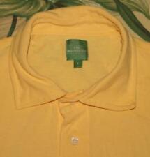 Mens SID MASHBURN Yellow Short Sleeve Polo Shirt Large L