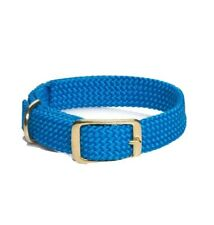 "New Mendota Blue Junior Double Braid Dog Collar 14"" Made in USA 9/16"""