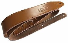 Soft Genuine Leather Classic Deluxe SCRIPT Acoustic, Electric, Bass Guitar Strap
