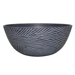 Northcote Pottery LINEAR BOWL 35x15cm High Density Resin DUST GREY *Aust Brand