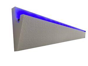 4 Meter LED Dekor Stuckleiste für indirekte Beleuchtung XPS OL-5 Weiß Decken