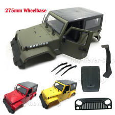 275mm Body Shell For SCX10 1/10 RC Crawler Jeep Wrangler Engine Hood Grille
