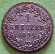 ALLEMAGNE BAYERN 1 KREUZER 1869