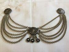 Antique french art nouveau deco 1930 Silverplated pendants Brooch Pin Ravishing