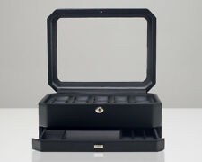 Wolf Windsor 10 Piece Watch Box with Drawer Storage Case Black 4586029