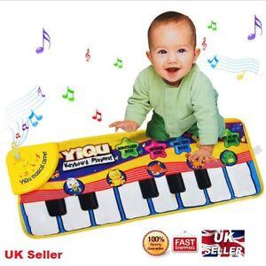 Musical Music Kid Piano baby Play Mat Animal Educational Soft Kick Toy Uk C104