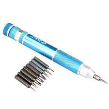 Portable 10 in 1 Precision Screwdriver Bit Set Screw Driver Kit Repair Tool Blue