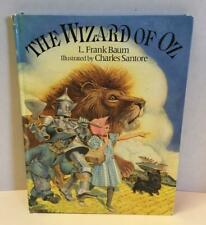 """The Wizard of Oz 10x13"""" HC Book 1991 Condensed L Frank Baum Illustrated Santore"""